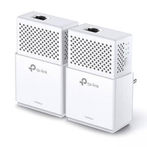 Powerline адаптер TP-Link AV1000 Gigabit TL-PA7010 KIT, 1000Mbps, Gigabit Ethernet порт, бял, TL-PA7010 KIT_VZ