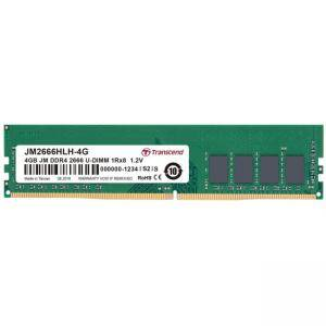 Памет Transcend 4GB 288pin U-DIMM DDR4 2666, 1Rx8 512Mx8 CL19 1.2V, JM2666HLH-4G