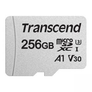 Памет Transcend 256GB UHS-I U3 V30 A1 microSDXC I, Class10 with Adapter, read: up to 95MBs, 45MB/s, TS256GUSD300S-A