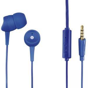Слушалки HAMA Basic4Phone, In-Ear, микрофон, 3.5 мм жак, син, HAMA-184043