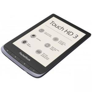 eBook четец POCKETBOOK Touch HD3 PB632-K-WW, 6 инча (1072×1448), 512 MB/16GB памет, HZO Protection IPx7, сив, POCKET-BOOK-PB632-J-WW