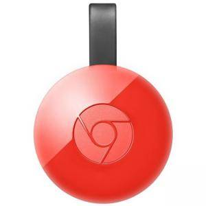 Мултимедиен плеър Google Chromecast 2, HDMI, Червен, GOOGLE-CHROMECAST-2-RED