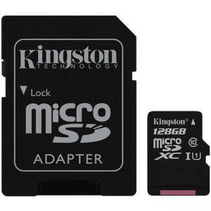 Карта памет Kingston 128GB microSDXC Canvas Select Class 10 UHS-I 80MB/s Read Card + SD Adapter. SDCS/128GB