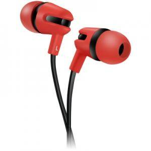 Слушалки CANYON Stereo earphone with microphone, 1.2m flat cable, Red, 22x12x12mm, 0.013kg. CNS-CEP4R