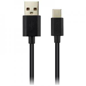 Кабел CANYON Type C USB 2.0 standard cable, Power & Data output, 5V 1A, OD 3.2mm, PVC Jacket, 1.8m, black. CNE-USBC2B