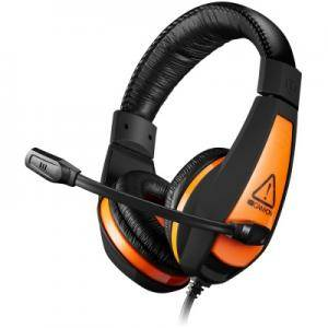 Слушалки CANYON Gaming headset 3.5mm jack with adjustable microphone and volume control, cable 2M, Black. CND-SGHS1