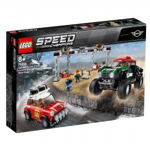 Конструктор Лего Спийд Шампиони - 1967 Mini Cooper S Rally и 2018 MINI John Cooper Works Buggy - LEGO Speed Champions, 75894