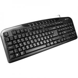 Клавиатура CANYON Wired Keyboard, slim, 116 keys with Multimedia functions, USB2.0, Black, cable length 1.3m, 445x160x24mm, 0.46kg.CNE-CKEY2-BG