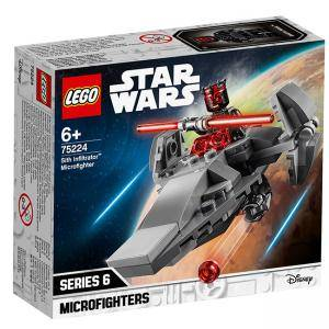 Конструктор Лего Стар Уорс - Sith Infiltrator Microfighter - LEGO Star Wars, 75224