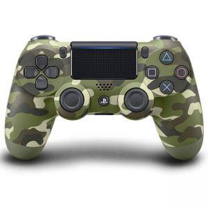 Геймпад - Sony PlayStation DualShock 4 Wireless, V2 , Зелен камофлаж, Green Camo