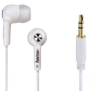 Слушалки HAMA Basic4Music, In-Ear, 1.2 m, Бял, HAMA-184004