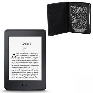 ЧЕТЕЦ ЗА Е-КНИГИ NEW 2015 Kindle Paperwhite III, 6 инча, 300 ppi with Built-in Light, Wi-Fi - Includes Special Offers+КАЛЪФ HAMA AREZZO