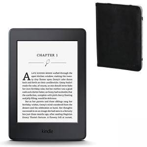 ЧЕТЕЦ ЗА Е-КНИГИ NEW 2015 Kindle Paperwhite III, 6 инча, 300 ppi with Built-in Light, Wi-Fi - Includes Special Offers + Калъф Черен, HAMA-173568