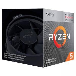 Процеоср AMD Ryzen 5 3400G с Radeon RX Vega 11 Graphics/BOX, AM4, 3.7GHz, 65W TDP, YD3400C5FHBOX