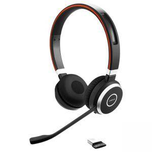 Слушалки Jabra Evolve 65 UC Stereo, Bluetooth, микрофон, черни, JABRA-98500000