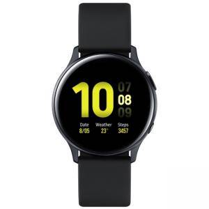 Смарт Часовник, 1.4 инча, Smartwatch Samsung SM-R820N Galaxy Watch Active2 Aluminium 44mm, Aqua Black, SM-R820NZKABGL