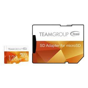 Карта памет Team Group Color microSDXC 128GB, UHS-I Class 10 + SD Адаптер, TEAM-SDMICRO-128-C10-YEL