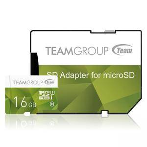Карта памет Team Group Color microSDHC 16GB, UHS-I Class 10 + SD Адаптер, TEAM-SDMICRO-16GB-CLASS10-COLOR2-GRN
