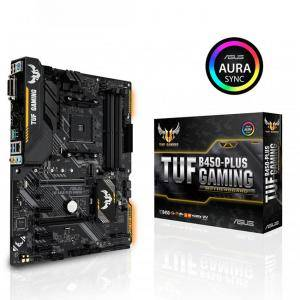 Дънна платка ASUS TUF B450-PLUS GAMING socket AM4, 4xDDR4, Aura Sync, ASUS-MB-TUF-B450-PLUS