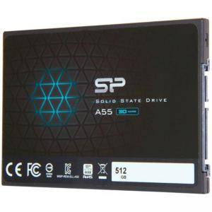 Твърд диск Solid State Drive (SSD) SILICON POWER A55, 2.5 инча, 512 GB, SATA3 3D NAND flash, SLP-SSD-A55-512GB