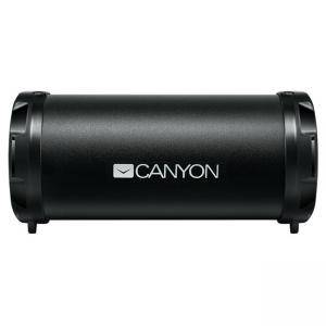 Безжична тонколона Canyon, Bluetooth 4.2, Wireless, Card Reader, 3.5mm AUX, micro-USB, 1500mAh polymer, 3 W, черен, CNE-CBTSP5
