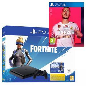 Конзола PlayStation PS4 Slim 500GB, черна + Fortnite Neo Versa