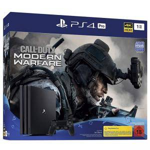 Конзола PlayStation 4 Pro с Игра Call of Duty - Modern Warfare (1TB, черен, Pro)
