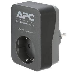 ФИЛТЪР APC Essential SurgeArrest 1 Outlet Black 230V Germany, PME1WB-GR