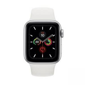 Смарт часовник Apple Watch Series 5 GPS (40mm) Silver Aluminium Case with White Sport Band, MWV62BS/A
