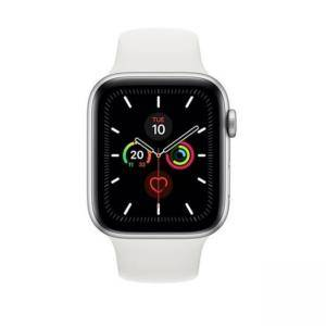 Смарт часовник Apple Watch Series 5 GPS (44mm) Silver Aluminium Case with White Sport Band, MWVD2BS/A