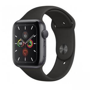Смарт часовник Apple Watch Series 5 GPS (44mm) Space Grey Aluminium Case with Black Sport Band, MWVF2BS/A