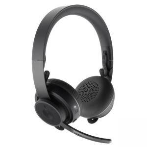 Слушалки с микрофон Logitech Zone Wireless Plus, Graphite, 981-000806