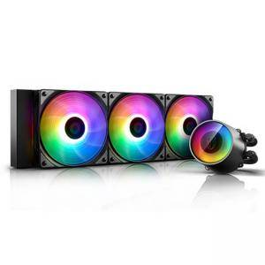 Охладител за процесор DeepCool CASTLE 360RGB V2, Addressable RGB LED, Black, DP-GS-H12AR-CSL360V2