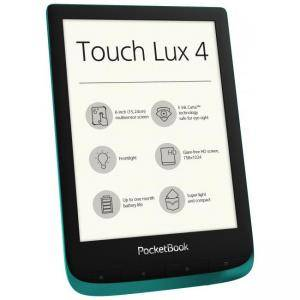 eBook четец POCKETBOOK Touch Lux 4 PB627, 6 инча E Ink Carta HD (1024×758), Емералд, POCKET-BOOK-PB627-EMERALD