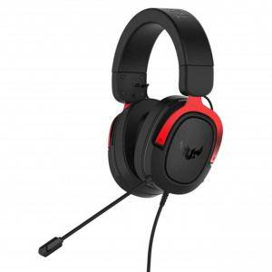 Геймърски слушалки ASUS TUF Gaming H3 (Red) 7.1 Virtual surround sound, ASUS-HEAD-TUF-GAM-H3-RED