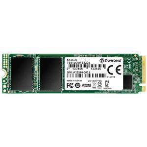 Диск SSD Transcend 512GB PCIe 3.1, NVMe (PCIe Slot) M.2 2280 SSD 3D NAND TLC with DRAM, read-write: up to 3400MBs, 2100MBs, TS512GMTE220S