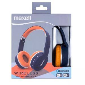 Безжични Bluetooth слушалки MAXELL BT800 HP, Blue/Orange, литиево-йонна батерия, ML-AH-BT800-BLU-OR