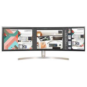 Монитор LG 49WL95C-W, 49 инча UltraWide Dual QHD IPS Curved LED 5K, 60Hz, 5ms, 32:9, HDMI, DisplayPort, USB-C, 49WL95C-W.AEU