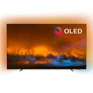Телевизор Philips 65 инча OLED 4K UHD LED Android TV,  Ambilight 3, 5000 PPI, Dolby Atmos, P5 Perfect Picture Processor, 65OLED804/12