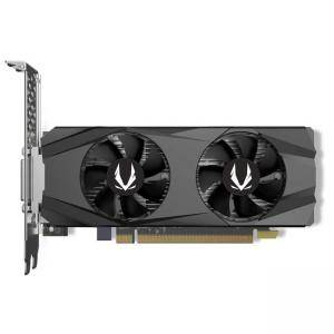 Видео карта ZOTAC GAMING GeForce GTX 1650 Low Profile, 4GB GDDR5, Super Compact, DVI-D, HDMI, DisplayPort, ZT-T16500H-10L