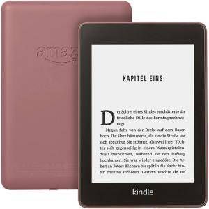 Електронен четец Kindle Paperwhite 10th Generation (8GB), Waterproof E-reader, Plum, 6 инча, Бордо