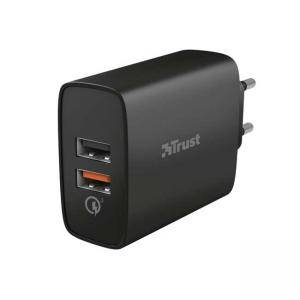 Зарядно устройство TRUST Qmax 30W Ultra-Fast Dual USB Charger with QC3.0, 23559