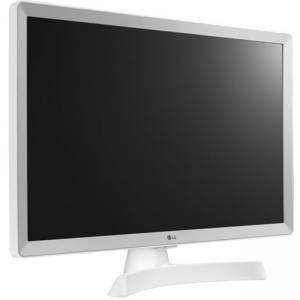 Монитор с ТВ Тунер, LG 24TL510S-WZ, 23.6 инча, WVA, LED non Glare, Smart webOS 3.5, TV Tuner DVB-T2/C /S2, 1000:1, Бял, 24TL510S-WZ