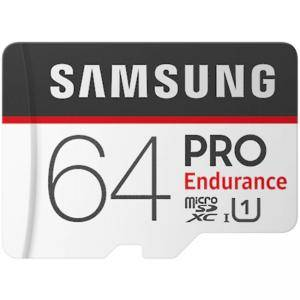 Карта памет Samsung 64 GB micro SD Card PRO Endurance, Adapter, Class10, Waterproof, Magnet-proof, Temperature-proof, X-ray-proof, Read 100 MB/s - Write 30 MB/s, MB-MJ64GA/EU