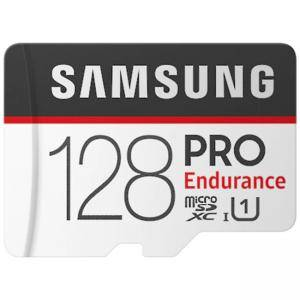Карта памет Samsung 128 GB micro SD Card PRO Endurance, Adapter, Class10, Waterproof, Magnet-proof, Temperature-proof, X-ray-proof, Read 100 MB/s - Write 30 MB/s, MB-MJ128GA/EU