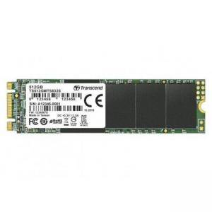 Твърд диск Transcend 512GB, Single Side, M.2 2280 SSD, SATA B+M Key, TLC, TS512GMTS832S