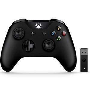Безжичен геймпад Microsoft Black Wireless Controller with Wireless Adapter V2 - Разопакован продукт