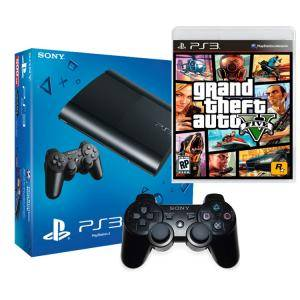 Игрова конзола - The PlayStation 3 500GB + Игра - Grand Theft Auto (GTA) V - Bundle