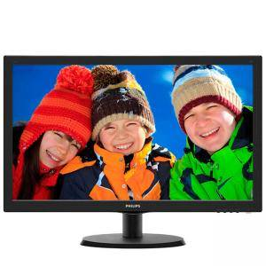 Монитор LED  - Philips 21.5 Slim LED 1920x1080 FullHD 16:9 5ms 200cd/m2 10 000 000:1, VESA, TCO, Piano black, 223V5LSB2/10