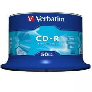 CD-R Verbatim Extra Protection 80min./700mb. 52X - 50 бр. в целофан